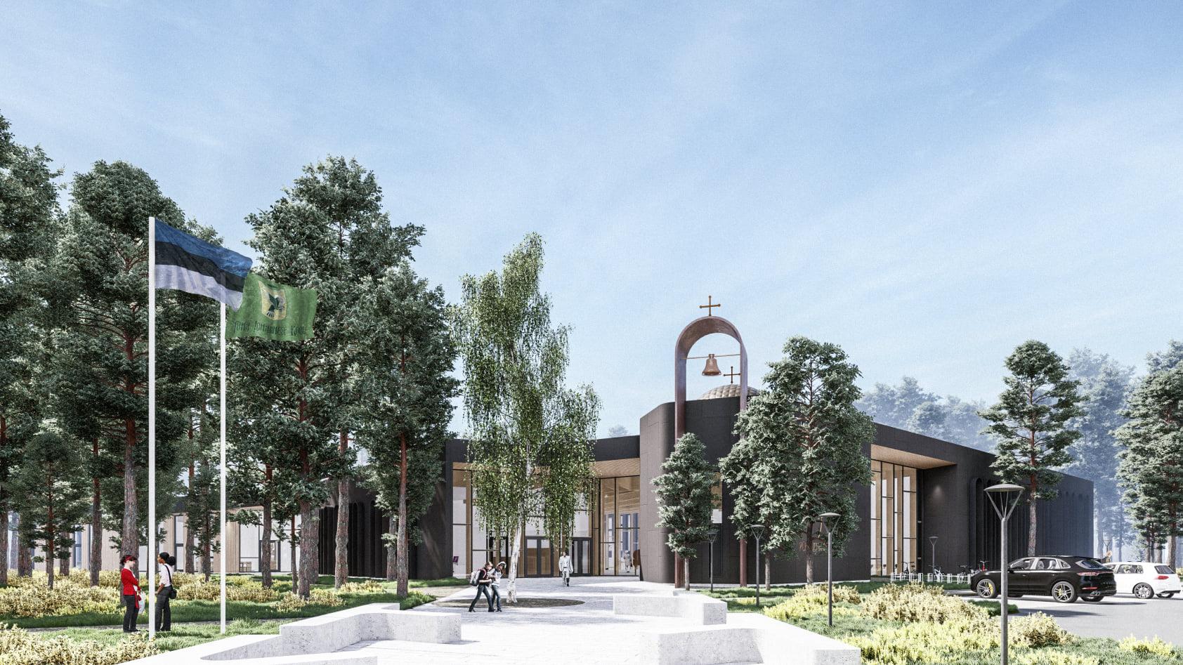 Проект здания Школы св. Иоанна Богослова