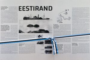 """Инфостенд, посвящённый истории парохода """"Ээстиранд"""""""