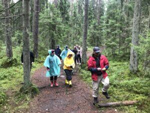Прогулка по лесу вместе с отцом Владимиром