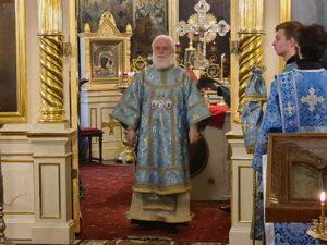 Божественную литургию в день праздника и Всенощное бдение накануне возглавил митрополит Таллинский и всея Эстонии Евгений