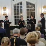 Выступление вокального квинтета храма Рождества Пресвятой Богородицы (регент Станислав Шеляховски)