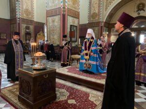 Освящения хлебов, вина и елея (масла) на литии во время Всенощного бдения