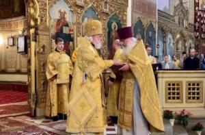 Награждение клирика собора протоиерея Иувеналия Каарма