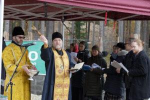 Освящение закладного камня храма Школа Иоанна Богослова