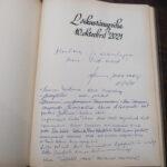 Памятная запись в книге почётных гостей Домского собора